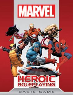 Marvel Heroic Roleplaying Basic Game - Ou comment transposer avec talent l'univers Marvel en jeu de rôle. Un jeu riche en information, bénéficiant d'un système à la fois très ludique et très narratif. De nombreux suppléments permettront de rejouer les grands moments de nos super-héros préférés.