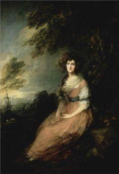 Mrs. Richard Brinsley Sheridan - Thomas Gainsborough, 1785 [Neoclassicism/ Revolution]