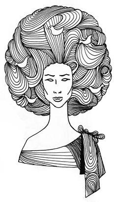 Hair, Patterns, Sharpieart, Sharpie, Sharpieartrd