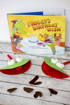 Help the guest of honor make these adorable Froggy crafts, then lead the rest of the party-goers in a game! From JaMonkey for #FroggysBirthdayWish.