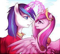 Shining armor and princess cadence
