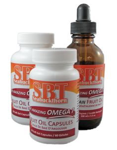 Now available.  The Amazing Omega 7 SBT Seabuckthorn Fruit Oil   Regulates Fat & Blood Sugar Metabolism.   Relieves Dry Eye Syndrome.   Relieves Acid Reflux.   Relieves Vaginal Dryness.     Improves Eczema & Dermatitis.   Reduces LDL Cholesterol.   http://www.seabuckthorn.com/omega7.htm