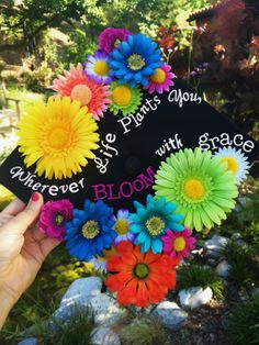 'Wherever Life Plants you, BLOOM with grace' Pretty happy with my DIY graduation cap! :) #gradcap #classof2014 #arts&crafts
