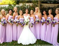 Lots of pictures of lavender weddings- cakes, decor, dresses...