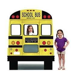Lifesize Cardboard Cutout Standee Party Decoration Teacher School Bus Photo