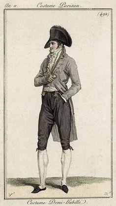 Costume Parisien 1803. Regency fashion plate.