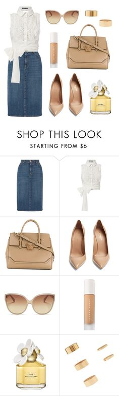 """""""Make My Day"""" by tasha-m-e ❤ liked on Polyvore featuring AlexaChung, Marissa Webb, Versace, Yves Saint Laurent, Linda Farrow, Puma, Marc Jacobs and Forever 21"""