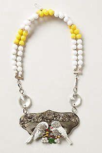 Anthropologie - Orpha Lovebirds Necklace
