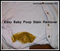 Baby Poop Clothes Stain Remover