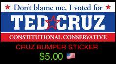 Cruz Bumper Sticker