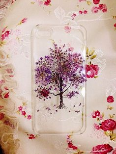 Real Dry Pressed Flowers leaf iphone 5 5s 5c 6 6 plus Samsung case cover tree