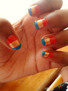 Nail art | love the colours. <3