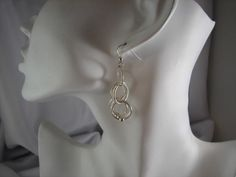Chainmail sterling silver dangle earrings