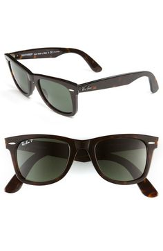 black polarized ray ban wayfarer of4p  Ray-Ban 'Classic Wayfarer' 50mm Polarized Sunglasses