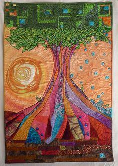 Spanish sun. fabric art quilt