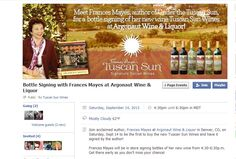 Join acclaimed author, Frances Mayes at Argonaut Wine & Liquor in Denver, CO, on Saturday, Sept 14 to be the first to buy the new Tuscan Sun Wines and have it signed by the author!  Frances Mayes will be in store signing bottles of her new wine from 4:30-6:30p.m. Get there early so you don't miss your chance!  ..........  #KatieSheaDesign ♡❤ #TuscanSunWines