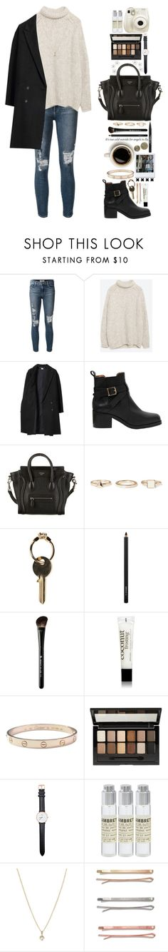 """""""Puppet on a string, you claw me back to life, boy, I'm forever tied to you"""" by bluemagicocean ❤ liked on Polyvore featuring Frame, Zara, Les Prairies de Paris, WALL, Carvela Kurt Geiger, CÉLINE, Warehouse, Maison Margiela, MAC Cosmetics and Beauty Is Life"""