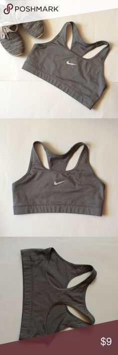 Nike Sports Bra This is a pre worn Nike Dri Fit Sports Bra in Size Large.  Minor signs of wear, overall in good condition.  🌵 Add to a bundle for an automatic discount or make an offer!  💕 If you bundle tour likes together I can send you a private discounted offer, just let me know! Nike Intimates & Sleepwear Bras