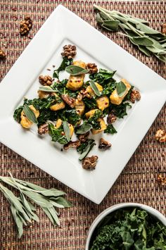 Kale and Sweet n' Spicy Candied Walnuts https://www.homechef.com/sage ...