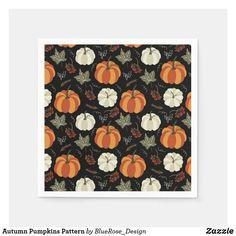 Autumn Pumpkins Pattern Napkins Cloth Napkins, Paper Napkins, Ecru Color, Cocktail Napkins, Fall Pumpkins, Thanksgiving Decorations, Keep It Cleaner, Colorful Backgrounds, I Shop