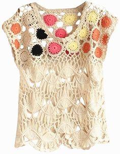 Contrast Crochet Top