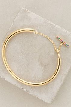Elizabeth and James Margaux Bangle Gold All Bracelets