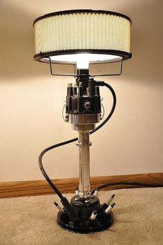 Distributor lamp with air filter shade