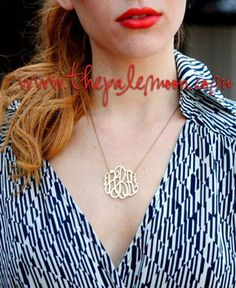 Monogrammed Acrylic Necklaces go with everything!!! Preppy, fun and fabulous! Starting at $25! Shop online now!  http://www.thepalemoon.com/jewelry/monogram-acrylic-necklace  #monogram #acrylicnecklace #preppy #jewelry #loveit #followme