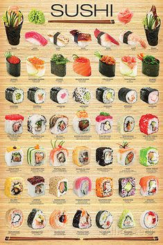 Sushi Collage Poster Print, 24x36