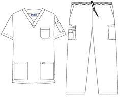4 Pocket Drawstring-Elastic Scrub Set for men Dental Uniforms, Scrubs Pattern, Scrubs Uniform, Lab Coats, Scrub Sets, Medical Scrubs, Hoodie Outfit, Nurses, Saatchi