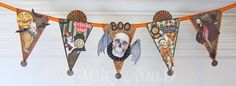 junk&stuff: Spooky Halloween Banner, with Medallion tutorial