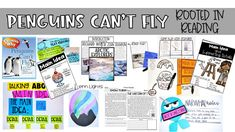 Students are guided through main idea and details with these fun penguins in the book Penguins Can't Fly!