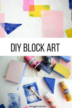 DIY color block has so many fun uses. Check out this simple color block art…