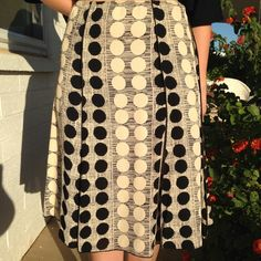Polkadot Skirt Very flattering below the knee skirt, pictured front and back Skirts
