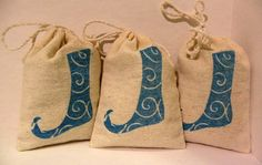 Natural Balsam Fir Cotton Muslin Sachet Gift Bags  by aunaturelle, $15.00