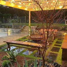 Looking great under lights! Pic from @fcglandscaping Well done Jamal and team! . . . . . . #gardenlighting #outdoorroom #bbq #gardendesign #planttiles #dichondra #landscapedesign #backyardideas #pergola Outdoor Rooms, Outdoor Furniture, Outdoor Decor, Landscape Design, Garden Design, Looks Great, Pergola, Tiles, Bbq