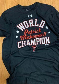 Patrick Mahomes Texas Tech Red Raiders Black World Champion Short Sleeve Player T Shirt - 55292268 Raiders Gifts, Raiders T Shirt, Raiders Players, Tech T Shirts, Texas Tech Red Raiders, Champion, Sleeves, Black, Raiders Shirt