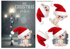 Dashing Through the Snow Card Front 10 - CUP725627_1443 | Craftsuprint