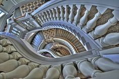 Staircase, Museum of Natural History, Helsinki, Finland Stairs And Doors, Take The Stairs, Deck Stairs, Modern Staircase, Staircase Design, Spiral Staircases, Staircase Ideas, Stairway To Heaven, Architectural Elements