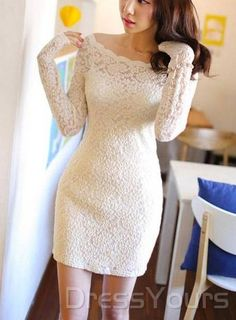 Korean Style Boat Neck Off Shoulder Lace Dress is designed on the newest fashion.Features all lace and off shoulder design. Off Shoulder Lace Dress, Lace Dress With Sleeves, Dress Up, Dress Lace, Sleeve Dresses, Prom Dress, Shoulder Sleeve, Wedding Dress, Dress Shoes