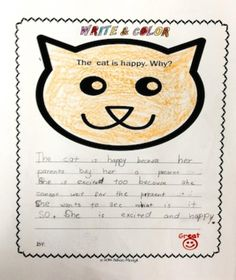 These differentiated journal prompts are perfect to give kids practice in writing while creating awareness about different emotions. Children can make personal connections easily to start writing their opinions and ideas.These journal prompts are great for students who are beginning to write and also for students who are more advanced writers.The topics are: 1) The baby panda is sad.Why? 2) The cat is happy. Why? 3) The koala is surprised. Why? 4) The lion is angry. Why?
