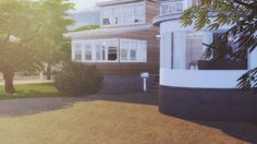#73 Curved house by Soulsistersims for The Sims 4