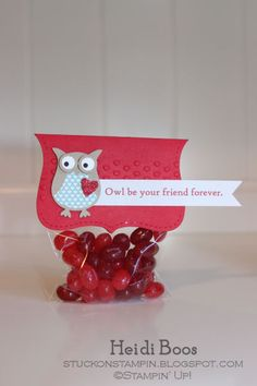 Valentine's Owl Top Note Topper