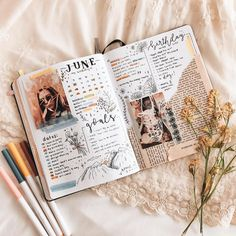 bullet journal bujo planner ideas for weekly spreads studygram study gram calligraphy writing idea inspiration june brown