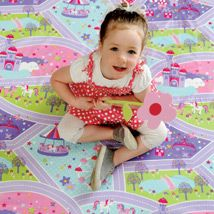Little girls will adore this gorgeous playmat in shades of pink, aqua, lilac and green. Magical unicorns and fairgrounds, rainbows and fairy castles topped with cupcakes all combine to make this mat a wonderland of fun and adventure. Made from PVC the mat is bound in lilac. Magical Unicorn, Projects For Kids, Household Items, Cool Things To Buy, Little Girls, Wonderland, Kids Room, Cool Stuff, Fun