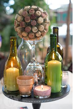 Wine themed centerpiece Woodbury's Central Park, 5/4/13