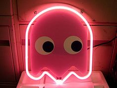 Neon Ghost from Pac-Man Light--relates to coloration and approximate shape.