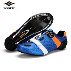 109.99$  Watch now - http://alih6k.worldwells.pw/go.php?t=32693082013 - Santic Carbon Fiber Road Cycling Shoes Men PRO Racing Team Bike Shoes Self-locking Athletics Bicycle Shoes Scarpe Ciclismo 2016