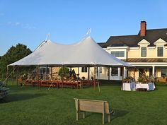 Our tidewater tents look amazing outside in the natural beauty of the Hudson Valley.