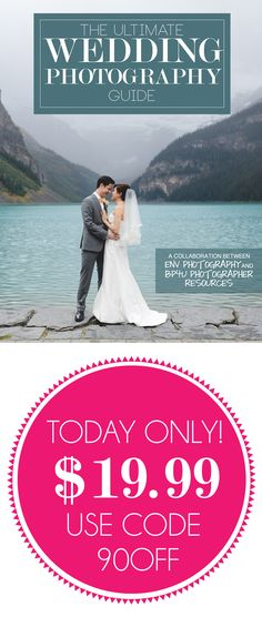 ★ Wedding BOGO! ★ ONE DAY ONLY BOGO SALE! Get The Ultimate Wedding Photography Guide for just $19.99 and receive a FREE wedding combo pack! Use code 90OFF at checkout. This sale will end tomorrow at 1pmEST.